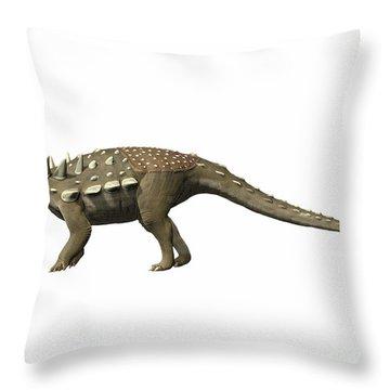 Polacanthus Foxii, Early Cretaceous Throw Pillow by Nobumichi Tamura
