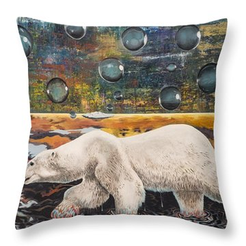 Polar Bear Displacement Replacement Throw Pillow
