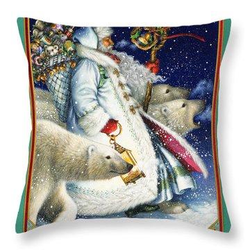 Polar Magic Throw Pillow