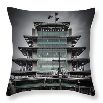 Pole Day At The Indy 500 Throw Pillow