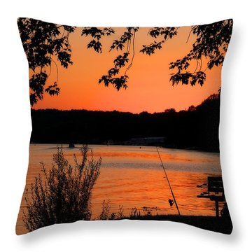 Pole Ready Throw Pillow by Dave Files