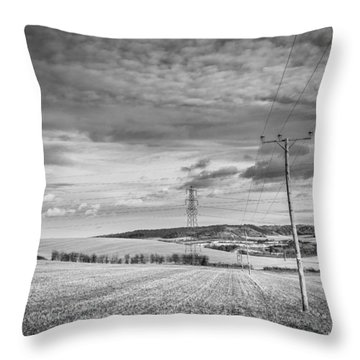 Throw Pillow featuring the photograph Poles And Pylons by Gary Gillette