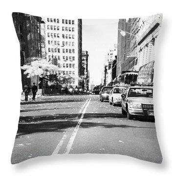 Police Escort 1990s Throw Pillow by John Rizzuto
