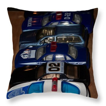 Police Lineup Throw Pillow by Jewels Blake Hamrick