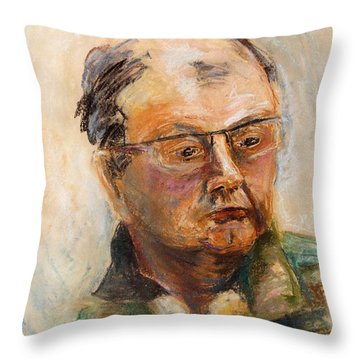 Policeman Off-duty Throw Pillow by Barbara Pommerenke