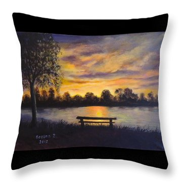 Polish Sunset Throw Pillow