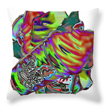 Polish Water Ice Wheel Throw Pillow by Robert Banach