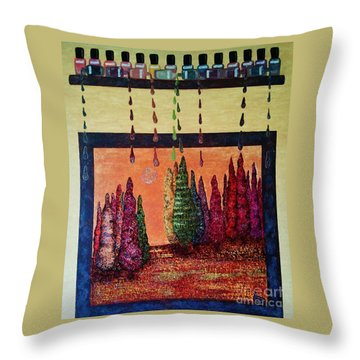 Polished Forest Throw Pillow by Jasna Gopic