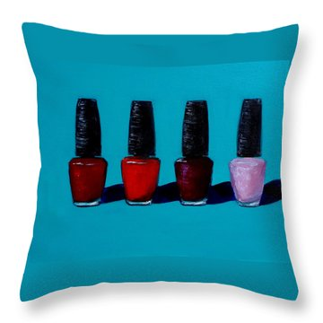 Polished Opi Nail Polish Throw Pillow