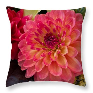 Politely Pink Throw Pillow