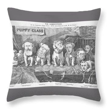 Political Puppy Class Throw Pillow