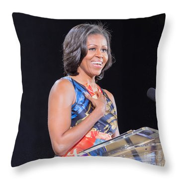 Political Ralley Throw Pillow by Ava Reaves