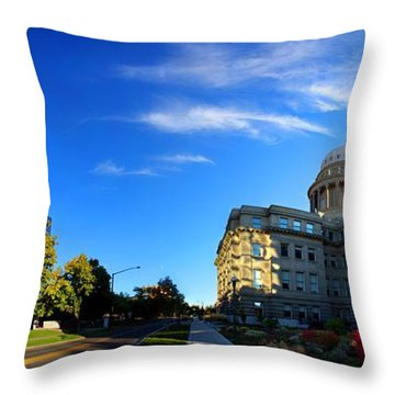 Throw Pillow featuring the photograph Political Warping by David Andersen