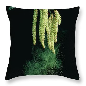 Pollen Dispersal By Wind Throw Pillow