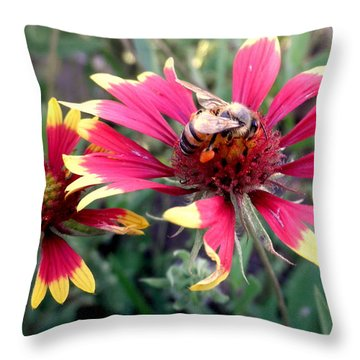 Pollination #1 Throw Pillow by Camille Reichardt