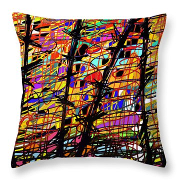 Pollock Updated Throw Pillow