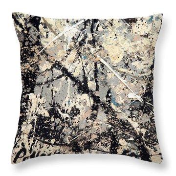 Pollock's Name On Lavendar Mist Throw Pillow