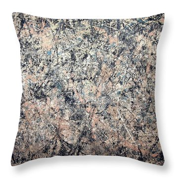 Pollock's Number 1 -- 1950 -- Lavender Mist Throw Pillow by Cora Wandel