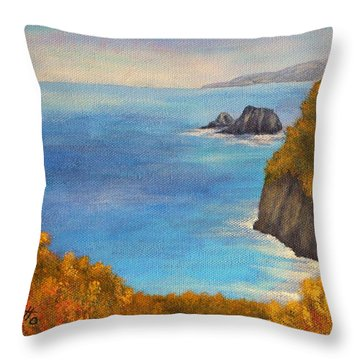 Pololu Valley Lookout Throw Pillow by Pamela Allegretto