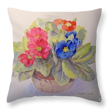 Polyanthus Throw Pillow
