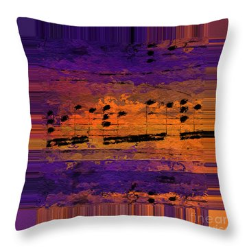 Throw Pillow featuring the digital art Polychromatic Postlude 14 by Lon Chaffin