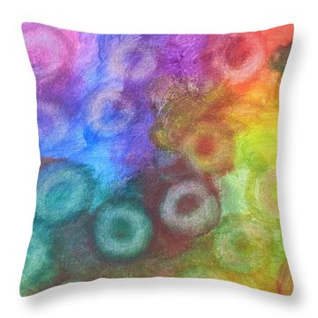 Polychromatic Rbc's Throw Pillow