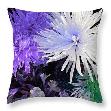 Pom Poms Throw Pillow