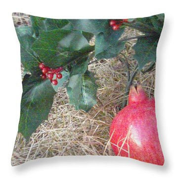 Pomegranate Love Forever Throw Pillow by Feile Case