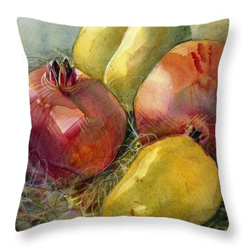 Pears Throw Pillows