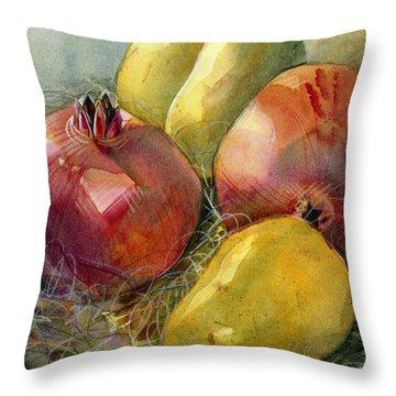 Pear Throw Pillows