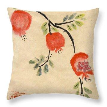 Pomegranates For Rosh Hashanah Throw Pillow