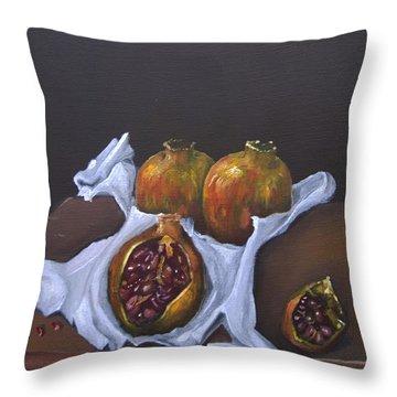 Pomegranates Throw Pillow