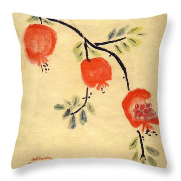 Pomegranates Throw Pillow