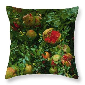 Pomegranates    Majorca Throw Pillow by John Singer Sargent