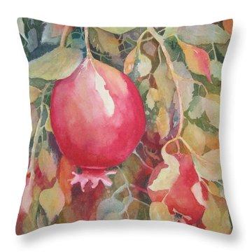 Pomegranite Throw Pillow