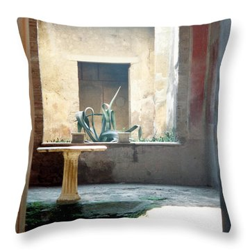 Pompeii Courtyard Throw Pillow by Marna Edwards Flavell