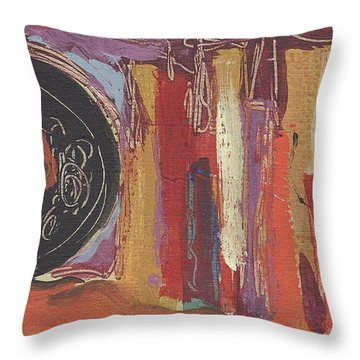 Pompeii Postcard Throw Pillow