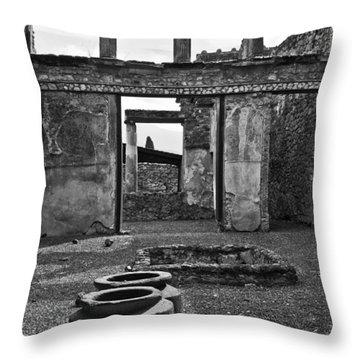 Pompeii Urns Throw Pillow by Marion Galt