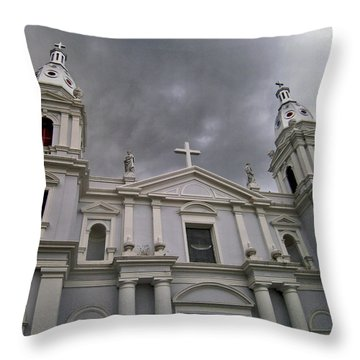Ponce Cathedral Throw Pillow