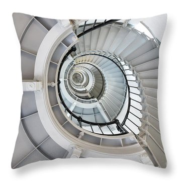Ponce De Leon Inlet Lighthouse Staircase Throw Pillow