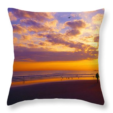 Ponce Inlet Fl Sunrise  Throw Pillow