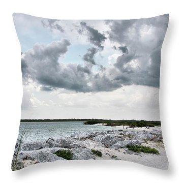 Ponce Inlet Mood Throw Pillow by Deborah Benoit