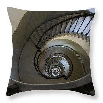 Ponce Stairs Throw Pillow by Laurie Perry