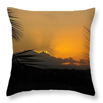 Ponce Sunrise Throw Pillow by Daniel Sheldon