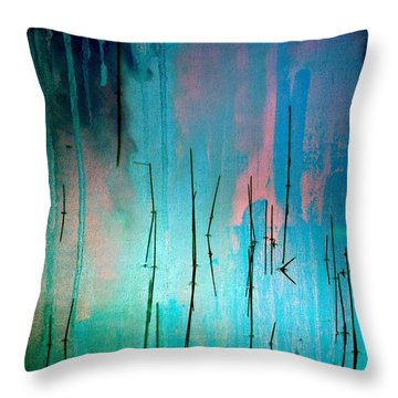 Throw Pillow featuring the photograph Pond by Irina Hays