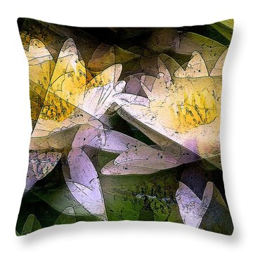 Pond Lily 24 Throw Pillow by Pamela Cooper