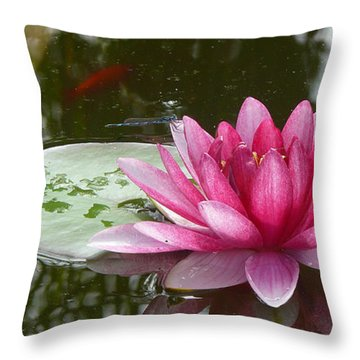 Pond Magic Throw Pillow