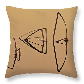 Pond Reeds Sunrise 1 Throw Pillow