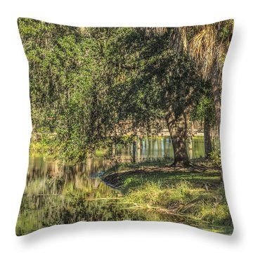 Pond Reflections Throw Pillow by Jane Luxton