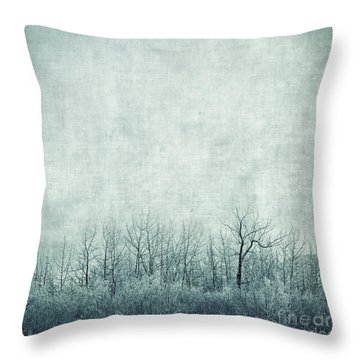 Pondering Silence Throw Pillow by Priska Wettstein